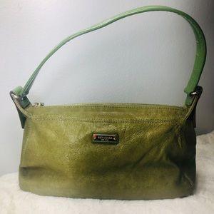 kate spade Green Leather/Patent Strap Shoulder Bag